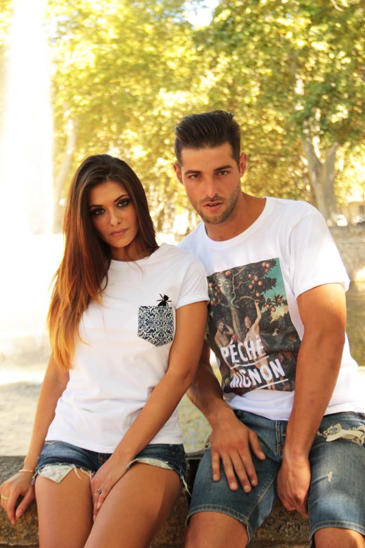 Elodie vedrine et Thomas Ramos avec tee shirt We Are Dynasty